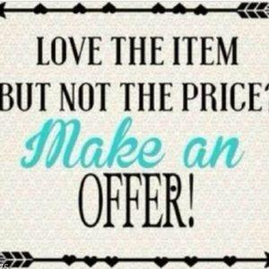 Send me an offer!!!! 🤝